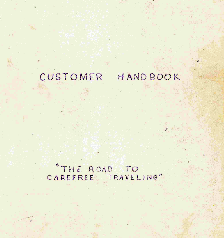 Customer Handbook Cover