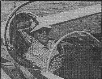Dave Peterson in a glider