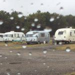 Rain soaked coaches