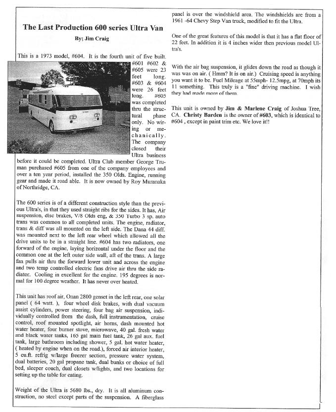 Jim Craig 600 series article