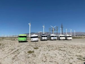 Western Rally coaches and wind machines