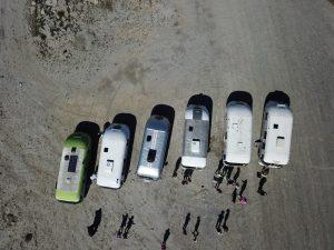 Western Rally desert shot from overhead rom above