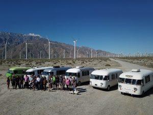 Western Rally impromptu desert car show group shot
