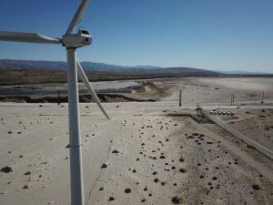 Western Rally wind machine drone shot