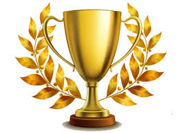 Gold trophy cup award image