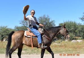 Jim Craig on a horse
