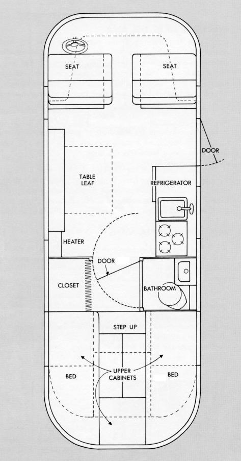 Ultra Van interior floor plan