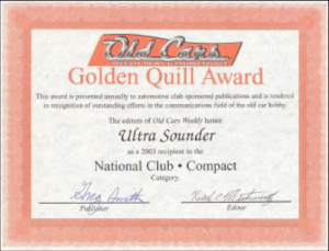 Golden Quill Award UltraSounder 2003