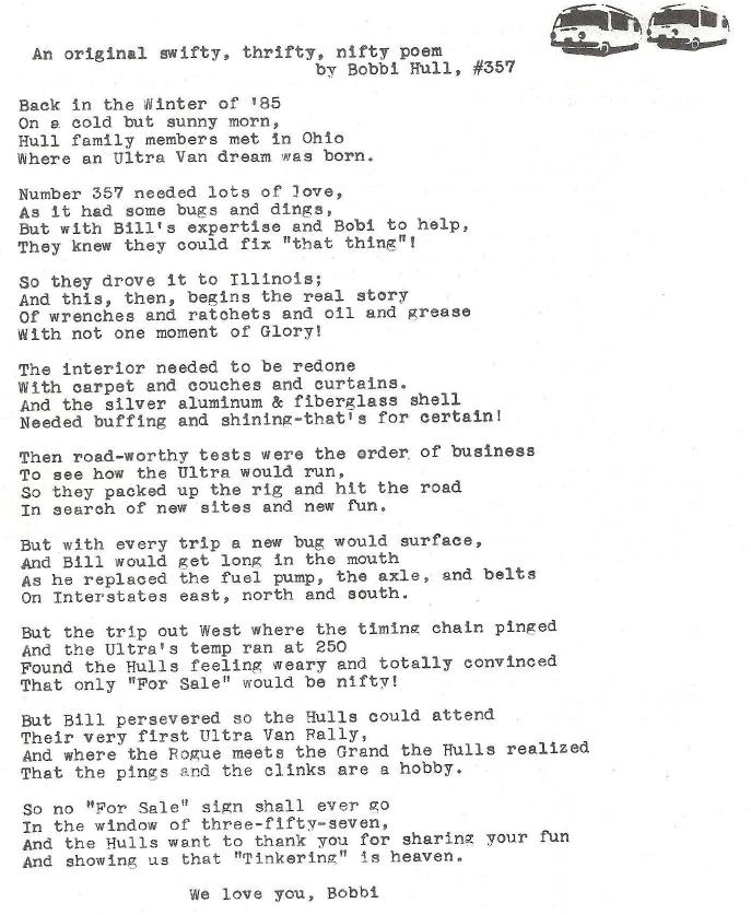 Original swifty thrifty nifty poem 1986-4 UVMCC newsletter