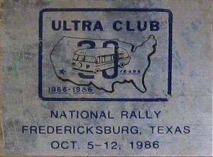1986 Fredericksburg badge