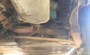 Leading arm rear suspension