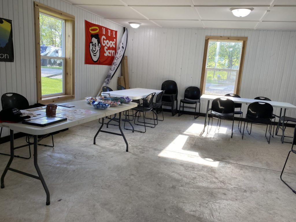 Campground meeting room left side