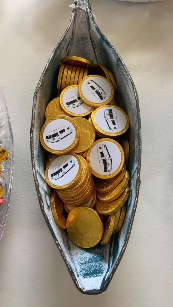2021 chocolate coins with Ultra sticker